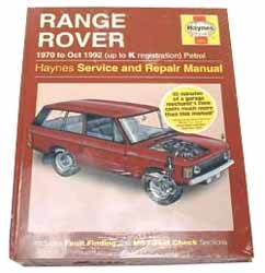 Haynes Range Rover Workshop Manual, 1970-1992
