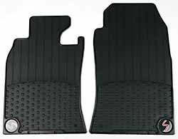Floor Mats - Front Set Of Two - Black Rubber - Cooper S Logo