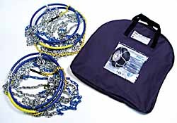 2 tire snow chains and carrying case