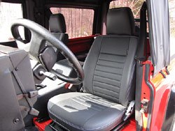 Defender 90 Seat Retrim Kit installed