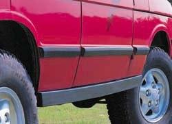 rock slider on Land Rover