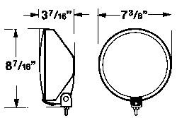 driving lamp spec diagram