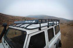 BajaRack roof rack installed on Defender