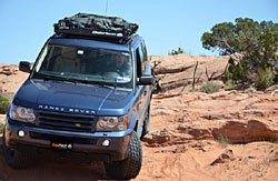 standard BajaRack roof rack on Range Rover Sport