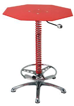 Man Cave Crew Chief Adjustable Table: Red From PitStop Furniture