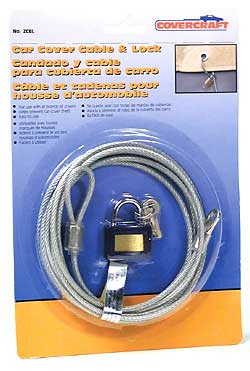 Covercraft car cover cable lock kit