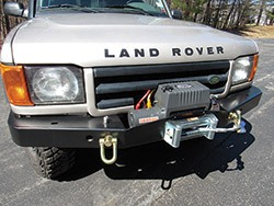 winch on Land Rover