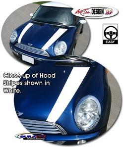 Decal - MINI Cooper Hood Graphics White