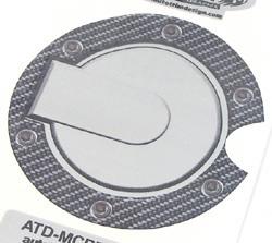 Decal - Fuel Door- Carbon Fiber Outer & Silver Metallic Billet Style