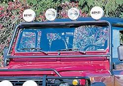 Defender windshield