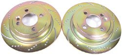 Brake Rotor Set Rear Cooper - Gold