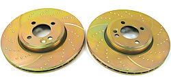 EBC Performance 3GD Sport Brake Rotor Set Dimpled & Slotted Front Pair