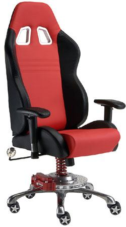 Man Cave Rolling Office Chair GT: Red And Black From PitStop Furniture