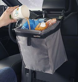 gray car litter container