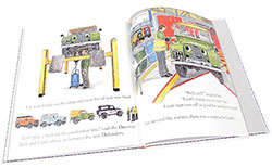 Landy At The Factory - book opened