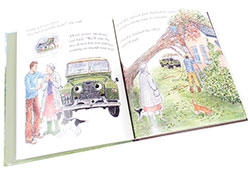 book open - Landy and the Apple Harvest book