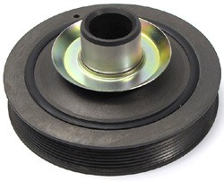 Genuine Crankshaft Pulley / Harmonic Damper For Land Rover Discovery Series 2 And Range Rover P38