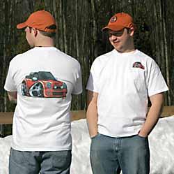 Wacky Cartoon T-Shirt - Cooper S Convertible - Orange