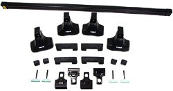 Thule Traverse Complete Roof Rack Kit For MINI Cooper And Cooper S Hardtop, 2002 - 2013, With 50-Inch Wide Load Bars
