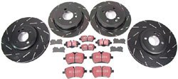 EBC Performance Brake Replacement Kit: Ultimax Blackdash Rotors With Ultimax Pads Front & Rear