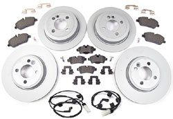 Brake Rebuild Kit: Front & Rear, Standard Rotors With Pads (Standard Performance)