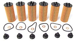 Oil Filter Kit: Set Of 6 By Mahle