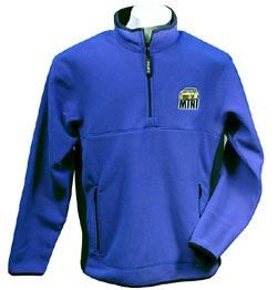 1/4 Zip Performance Polartec™ Fleece Pullover - MINI Cooper Car Logo - True Royal / True Navy