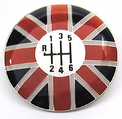 Shifter Knob Top - Union Jack - 6-Speed