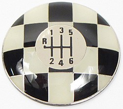 Shifter Knob Top - Checkered - 6-Speed