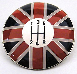 Shifter Knob Top - Union Jack - 5-Speed