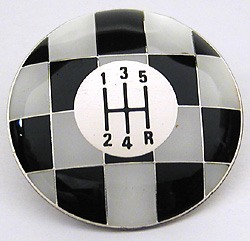 Shifter Knob Top - Checkered - 5-Speed