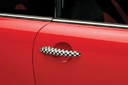 Door Handle Cover Checkered Flag-Pair
