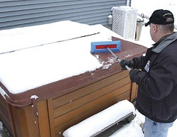 snow broom