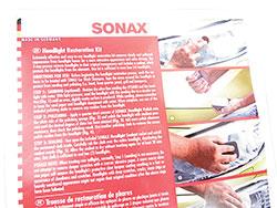 SONAX Headlight Restoration Kit - product directions