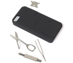 Smartphone Tool Case For iPhone 5 & 5S By Swiss Tech (Black)