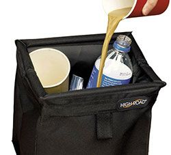 black car litter container