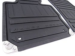 Genuine Floor Mat Set, Front And Rear, 4-Piece Black Rubber For Range Rover Full Size 2011 - 2012