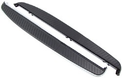 Side Steps, Pair, Black Thermo Plastic Elastomer Top And Brushed Aluminium Side Trim, For Range Rover Sport, 2006 - 2013