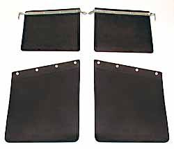 Mud Flap Kit, Front And Rear, For Land Rover Series 2, 2A, 3 And 109