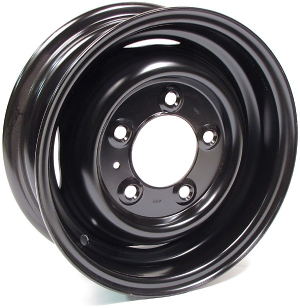 Steel Wheels, Set Of 4, 16 By 5.5-Inch Steel, Black, Tube Type For Land Rover Series 2, 2A And 3 (88 And 109)