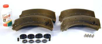 brake shoes, Castrol oil and seal kit