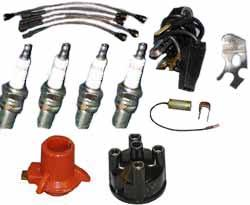 Land Rover tune up kit with Ducellier distributor parts