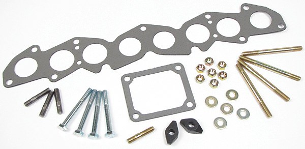 Exhaust Manifold Fitting Kit 2.25L, With Gaskets And Hardware, For Land Rover Series 2, 2A And 3