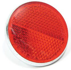 Rear Red Round Reflector For Land Rover Series II And IIA