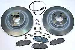 Genuine Front Brake Rebuilding Kit For Range Rover Full Size L322 2006 - 2009, Includes Genuine Rotors, Pads, Retainers And Wear Sensor