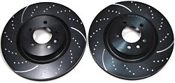 EBC Brakes GD1448 3GD Series Dimpled And Slotted Sport Rotors, Pair, For LR3, LR4, Range Rover Full Size And Sport