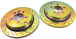 Performance Brake Rotors Rear, Drilled And Slotted Pair For LR3 V6