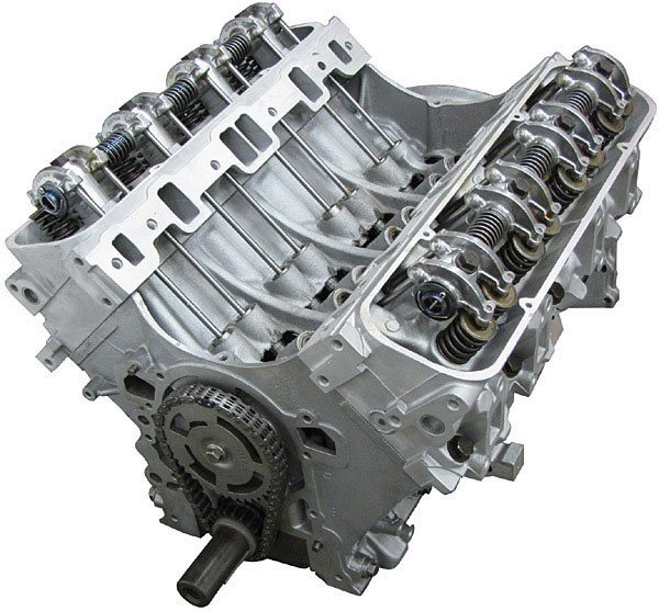 Range Rover Engine: Remanufactured 4.6 GEMS Long Block Engine Without Secondary Air; Set-Up With Cylinder Heads And Rockershaft (Core Charge Additional)