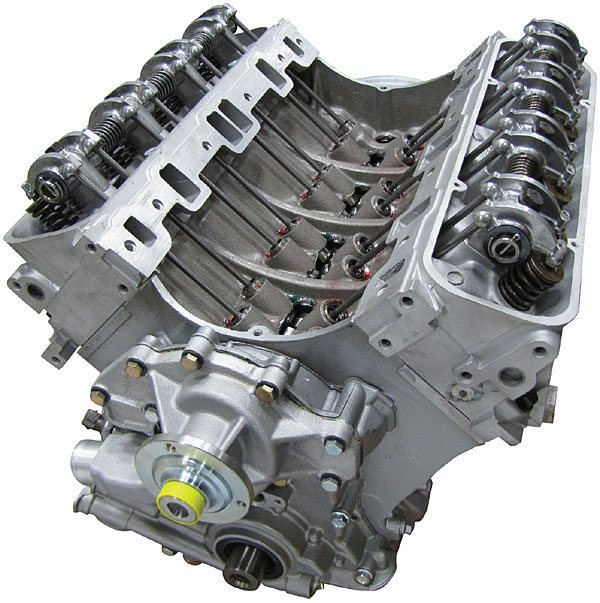 Land Rover Engine: Remanufactured 4.6 BOSCH Long Block Engine With Secondary Air; Set-Up With Front Cover, Water Pump, Cylinder Heads And Rockershaft (Core Charge Additional)