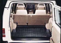 Cargo Mat / Loadspace Liner, Black, Half Mat Size By WeatherTech, For Land Rover Discovery Series 2